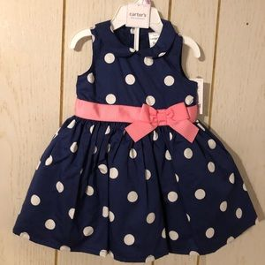 Blue Polkidots Dress